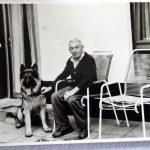Emil Scheid mit Hund